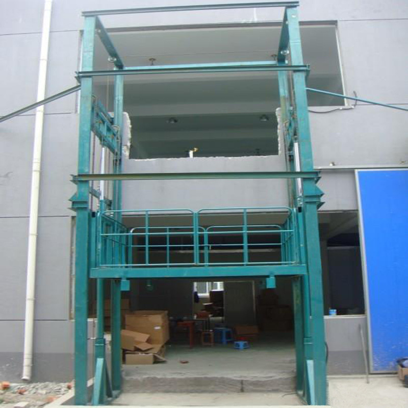 室外贴墙导轨式货梯无锡升降平台