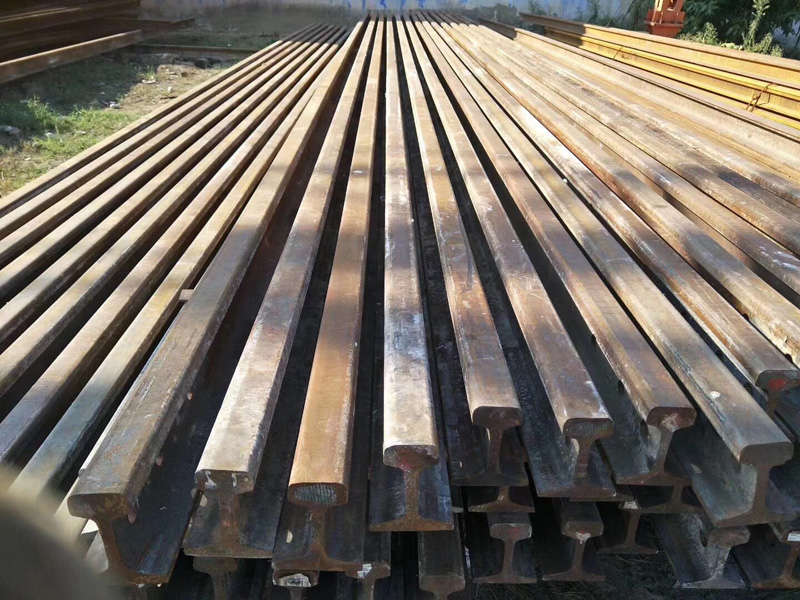 15kg/m轻轨起重机道轨,材质Q235钢板,道轨夹板压板,起重机行走轨道