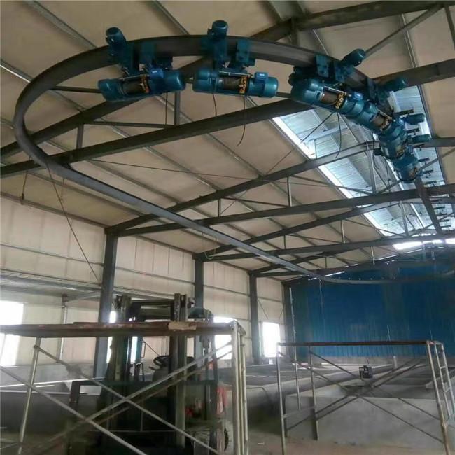 电站用环形起重机环形电动葫芦CD1型钢丝绳S型轨道环形悬挂起重机扬州吊车