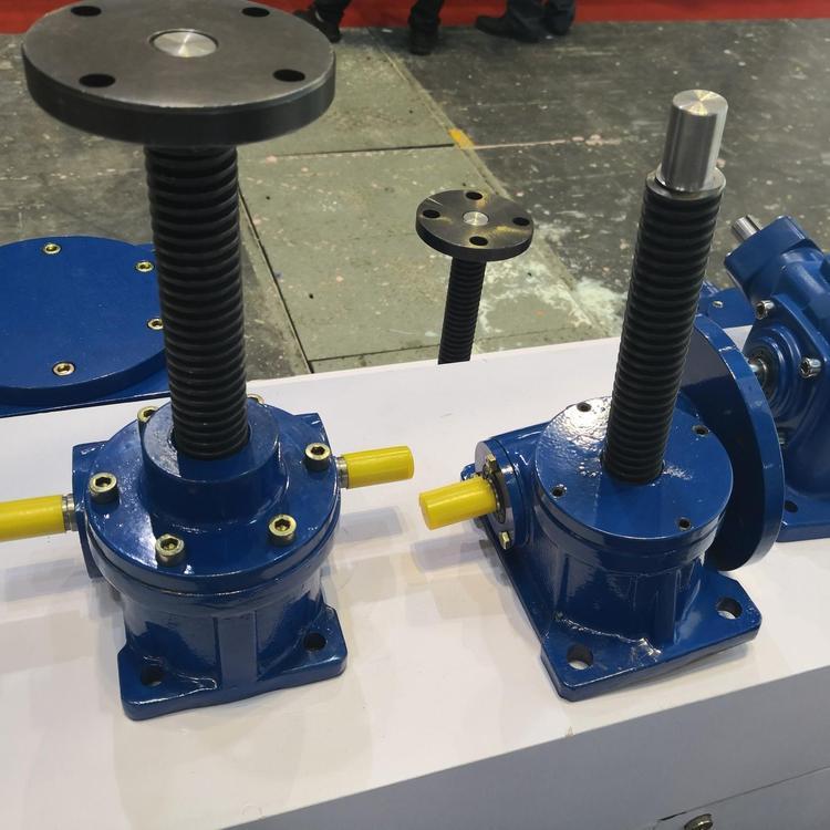 SJA螺旋升降机SWL2.5-1BII-150FZ螺旋丝杆升降机手摇涡轮蜗杆螺旋丝降器上海升降机