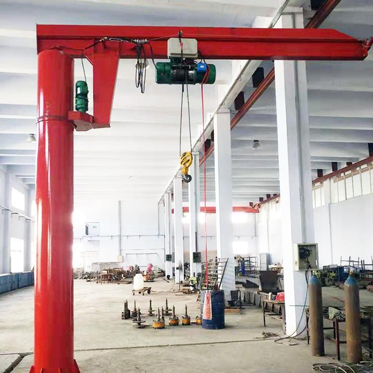 混凝土结构旋臂吊起重机BZD5柱式悬臂吊BZD5吨悬臂吊3吨重型旋臂吊重型旋臂起重机