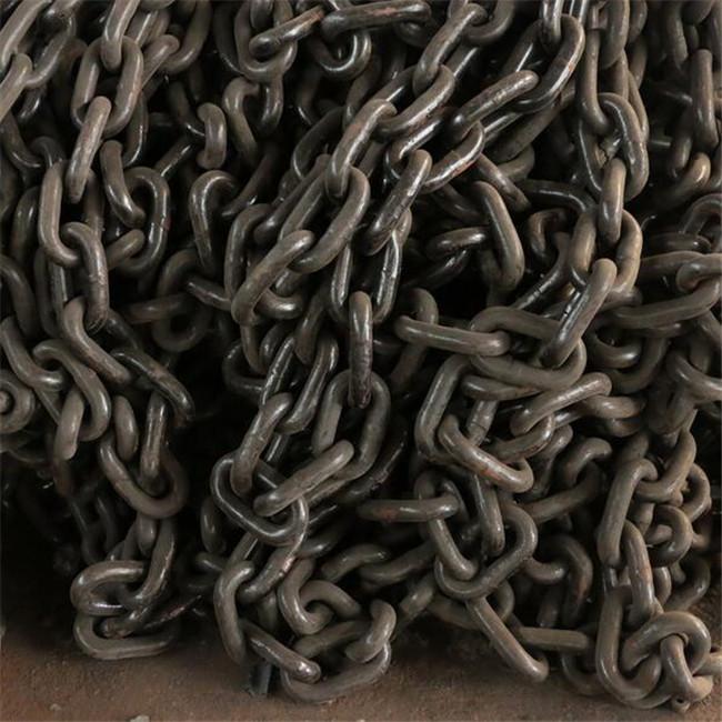 非标定制耐磨起重圆环链条 起重链条G80 矿用开口环马蹄环矿用链条 G80起重链条厂家