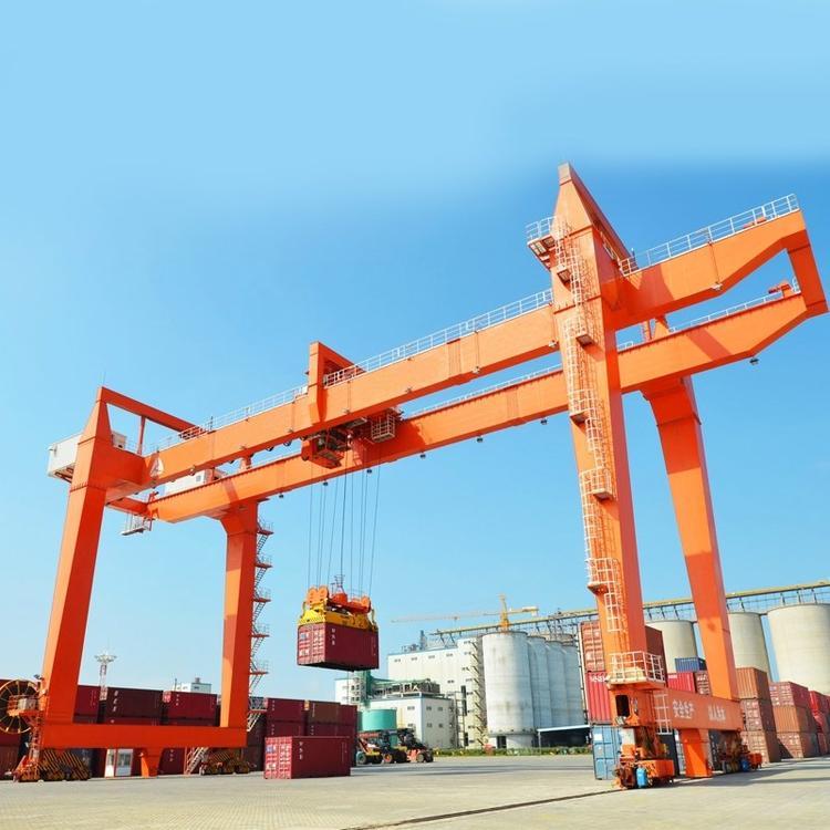 港口码头用门式起重机 轨道式集装箱龙门吊港口集装箱龙门起重机